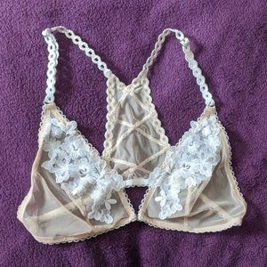 Other - Gorgeous Petite Delicate Halter Lace Bra 30A